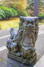 foo dog statues japanese komainu foo dog temple guardian granite statue