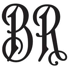 letter monogram two letter monogram decal with an font