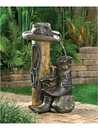 Cowboy Boot Planter by Cowboy Boots Water Fountain Fountains