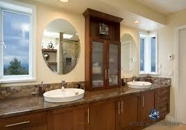 cherry bathroom cabinet remodel laminate countertop oval sinks