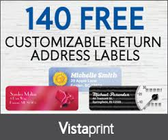 140 free address labels from vistaprint