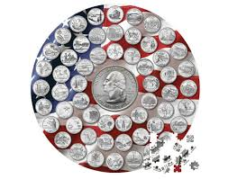 State Series Quarters Collector Map by State Quarter Jigsaw Puzzle
