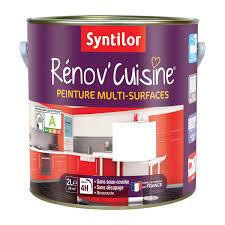 peinture pour placard de cuisine peinture rénov cuisine syntilor blanc 2 l leroy merlin