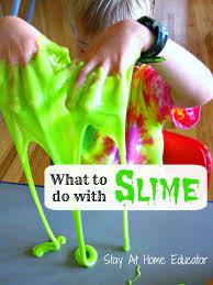 exploring slime in preschool