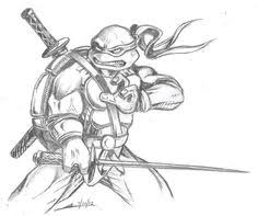 teenage mutant ninja turtles in characters coloring page free