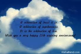 wedding celebration quotes 25th anniversary messages