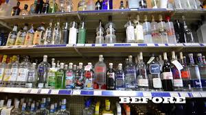 Liquor Display Shelves by Retail Store Led Lighting Before U0026 After Led Shelf Lights Youtube