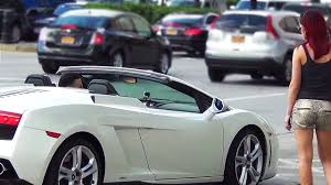 gold convertible lamborghini picking up women in a lamborghini gold digger prank every