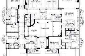 style house plans with courtyard courtyard home plans processcodi