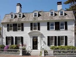 white colonial style home with clapboard siding 50425 house