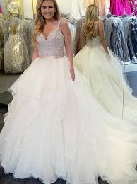 beading wedding dresses buy gown straps court tulle wedding dress with beading