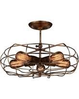copper flush mount light amazing deal on mariella 4 light crystal semi flush mount antique