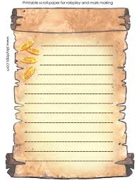 scroll template lined colour printable activity sheet jpg 690 900