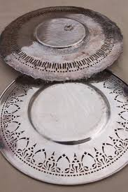 wedding serving dishes silver plate serving trays bonbon candy dishes for tea table or