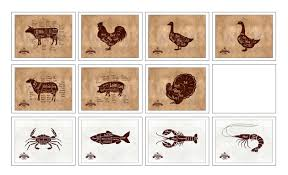 beef meat cuts butchers chart home decor wall art decoration beef chicken duck goose lamb pork turkey crab fish lobster shrimp meat cow cuts butchers chart
