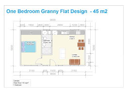 1 bedroom granny flat floor plans