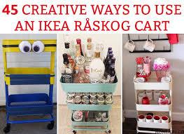 raskog cart ideas 45 creative ways to use a råskog ikea cart organization ideas