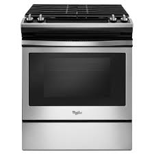 home depot kitchen ls whirlpool 30 in 5 0 cu ft slide in gas range in stainless steel