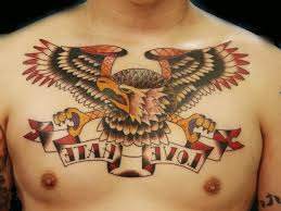 traditional eagle chest tattoo eagle tattoos designs and ideas