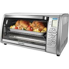Hamilton Beach Set Forget Toaster Oven With Convection Cooking Black Decker 6 Slice Digital Convection Toaster Oven Stainless
