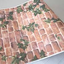 vintage brick creeper peel stick wallpaper self adhesive wall