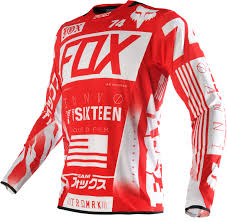 fox jersey motocross fox jersey flexair union red 2016 maciag offroad