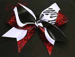 african american cheer hair bows star cheer bow in red black white zebra