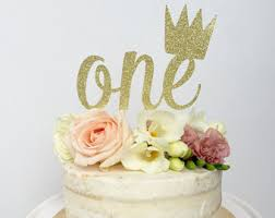 crown cake topper etsy