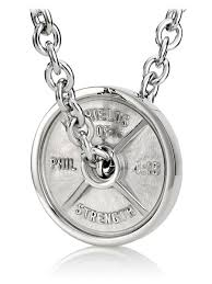 chain necklace mens images Stainless steel weight plate necklace men 39 s chain necklace jpg