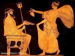 Ancient Greek Vase Painting Poseidon U0026 Iris Ancient Greek Vase Painting