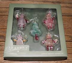 free vintage set of 5 gumdrop ornament set cannon falls of