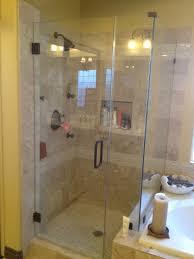glass shower door handles narrow bathroom with frameless glass shower door and double