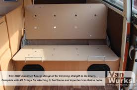 Mdf Bed Frame 9mm Easy Trim Mdf Bed Boards Vanwurks Vw Cer Interiors