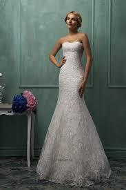 elegant strapless sleeveless lace mermaid wedding dress detachable