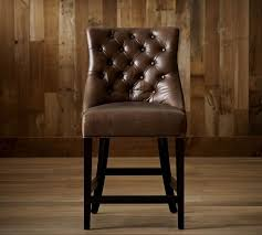 Pottery Barn Bar Stool Hayes Tufted Leather Barstools Pottery Barn Tufted Leather Bar