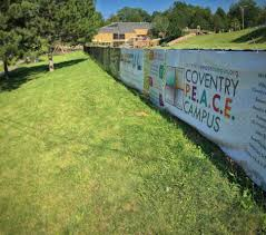 as it faces an uncertain future the coventry peace campus hosts a