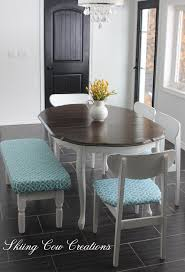 Maple Table And Chairs Table Top Painted In Annie Sloan U0027s Honfleur And Sealed With A