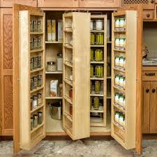 Cabinet Pull Out Shelves Kitchen Pantry Storage by Triple Light Brown Wooden Pull Out Shelves Placed On The Brown