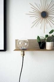 Schlafzimmer Lampe Selber Machen Diy Stylisches Wandregal Mit Leuchte Paulsvera