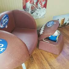 find more bud light football chair and cooler foot stool for sale