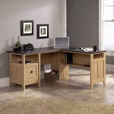 L Shaped Computer Desk Amazon by Amazon Com Sauder August Hill L Shaped Desk Dover Oak Finish