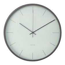 wall clock karlsson mist wood sweep grey 38 wall clocks u2013 priisma