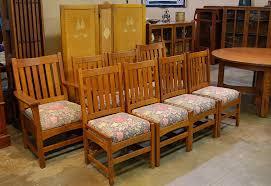 voorhees craftsman mission oak furniture original vintage set of