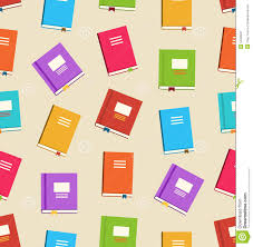 seamless pattern of books for education stock vector image 54360237