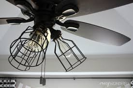 Ceiling Fan With Cage Light Ceiling Fan Cage Light Kit Ceiling Lights