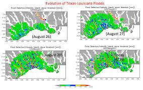 Louisiana Flood Maps by Hurricane Harvey 2017 Nasa Earth Science Disasters Program