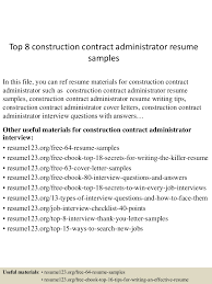 Sample Admin Resume by Contract Administration Sample Resume Haadyaooverbayresort Com