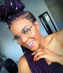 half shaved with braids 51 hot poetic justice braids styles purple box braids box and