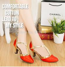 Comfortable Ballroom Dancing Shoes Shoe Quotes Picture More Detailed Picture About T Belt Red Gold