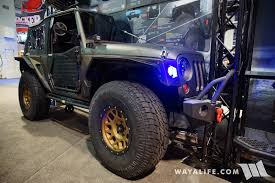 navy blue jeep wrangler 2 door 2017 sema smittybilt 1 2 a jeep jk wrangler 2 door